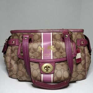 COACH SIGNATURE DOCTOR SATCHEL PURPLE